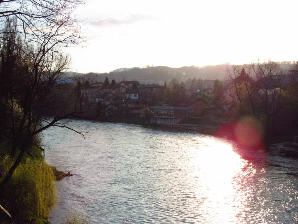 Vrbas River in the evening
