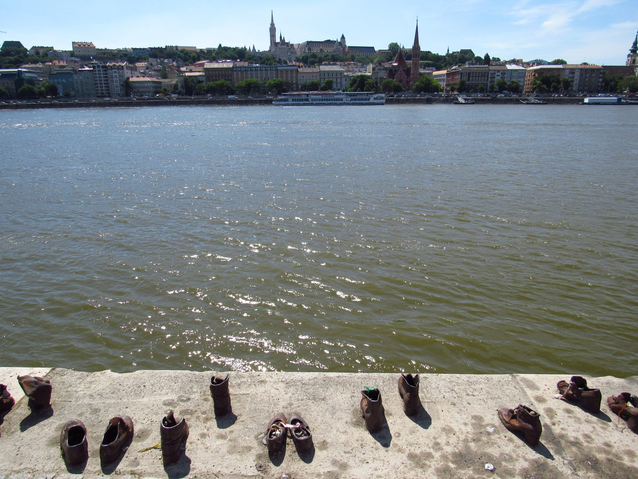 Shoes across Danube RIver