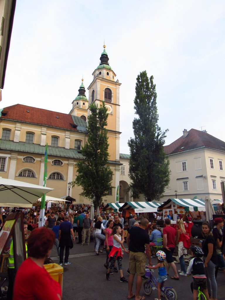 Food market in Ljubljana